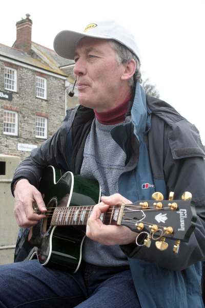 Chris Busking In Cornwall