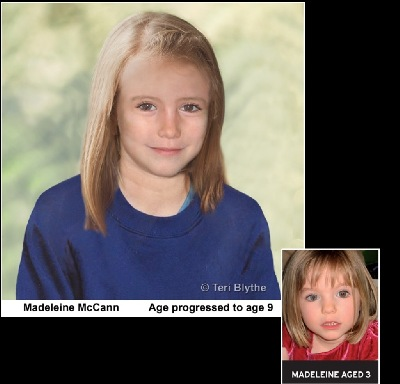 Madeleine McCann Age Progression to the age of 9
